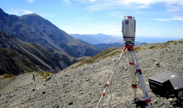 Lidar laser-scanning in the Kaikoura region of New Zealand