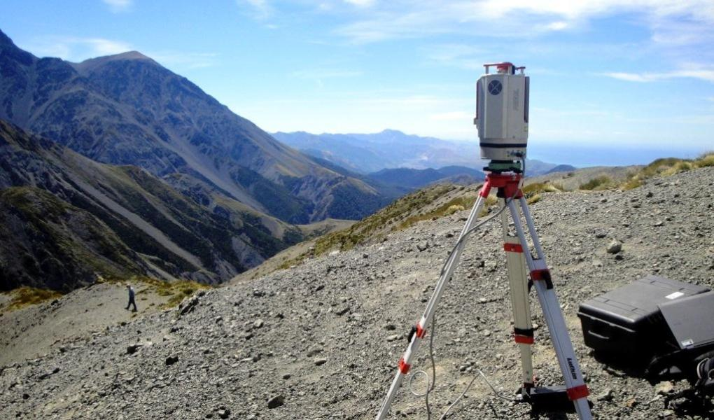 Lidar laser-scanning in the Kaikoura region of New Zealand