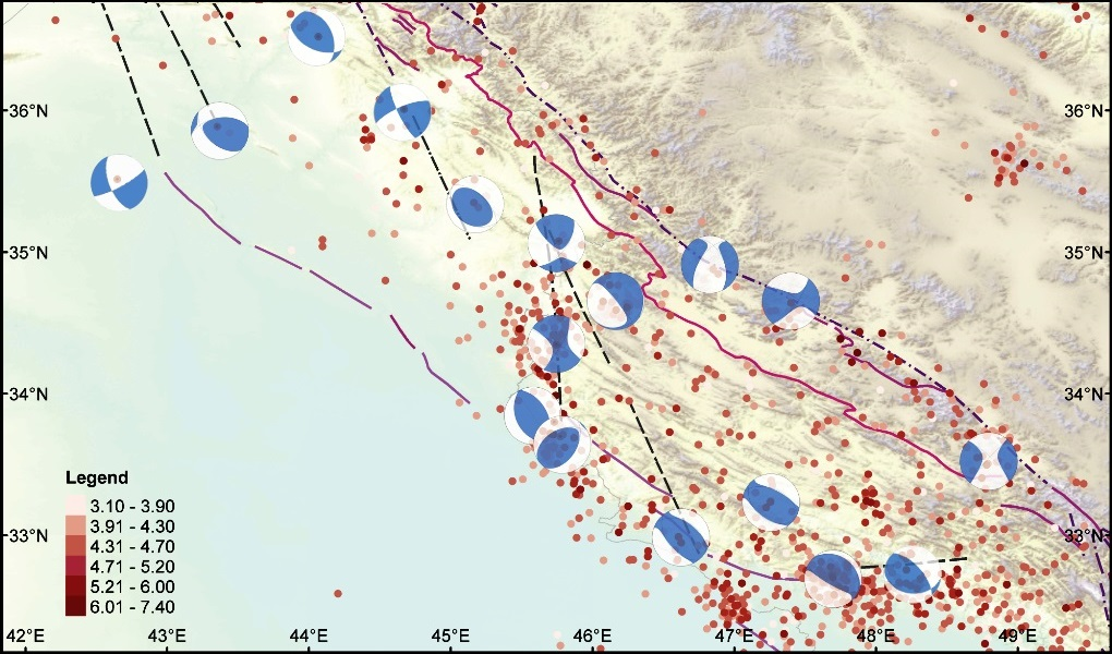 Recent seismicity in SE Kurdistan and the Lurestan region of Iran