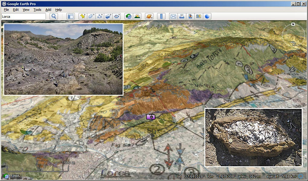 Screenshot from our Virtual Field-Trip to SE Spain for Durham University