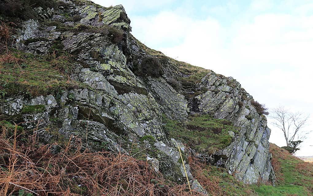 Folded Skiddaw Slates at the Raven Crags SSSI, Mungrisdale, Lake District