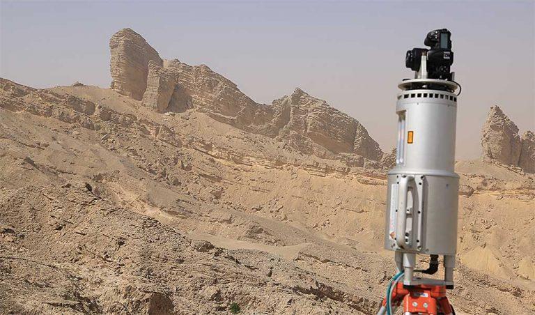 Mid Eocene Damman Fm onlapping on Palaeocene-Eocene Rus Fm, Jebel Hafeet, UAE