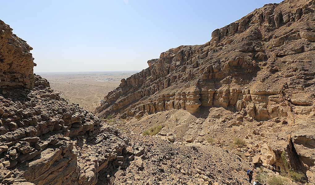 Fractured carbonates, Jebel Madmar, Oman
