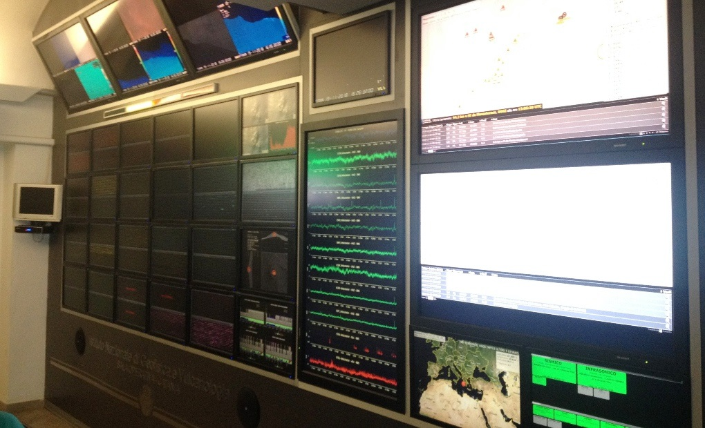 INGV control room in Catania