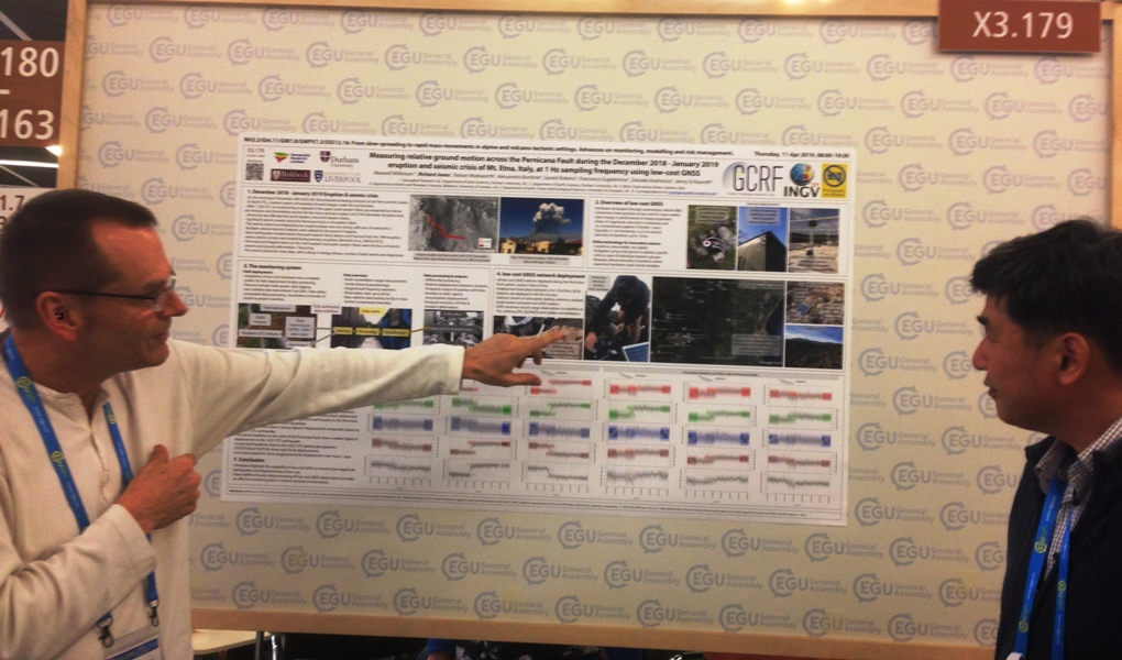 Poster presentation on GNSS monitoring at Mt. Etna, EGU 2019